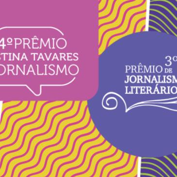 Saem os finalistas dos prêmios Cristina Tavares e de Jornalismo Literário