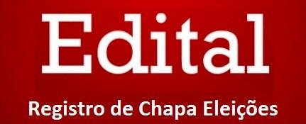 Comissão Eleitoral informa o registro de Chapa Eleições 2019
