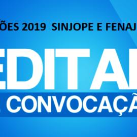 Edital das Eleições do Sinjope e da Fenaj em Pernambuco 2019
