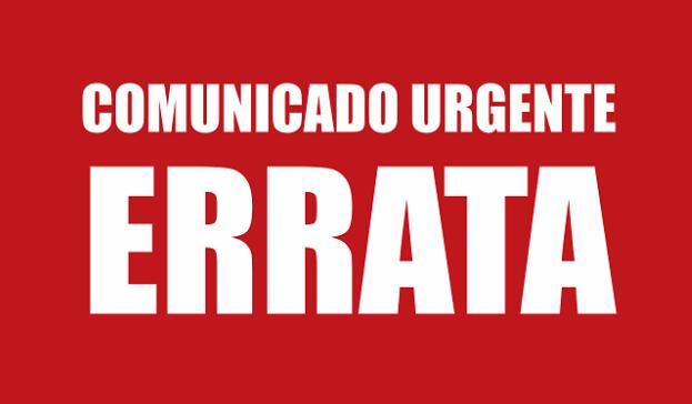 ERRATA – Edital de Registro de Chapa Definitiva 2019: