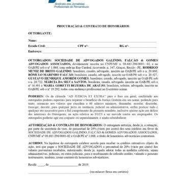 Procuração para ação coletiva do FGTS