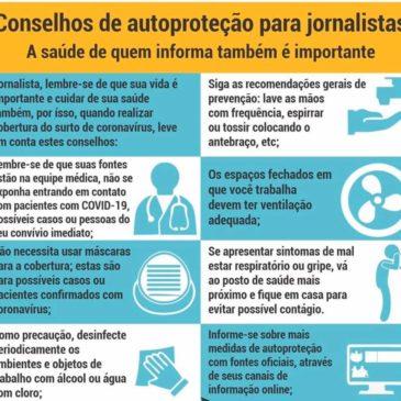 COVID 19 – Sinjope cobra medidas preventivas para jornalistas