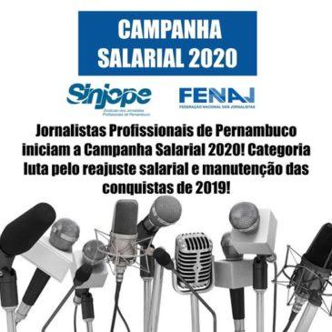 Jornalistas aprovam Pauta de Reivindicaçõese iniciam a Campanha Salarial 2020