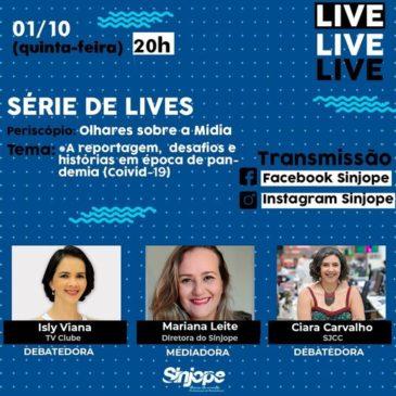 Jornalistas Isly Viana e Ciara Carvalho são as debatedoras da Live desta quinta (01/10)