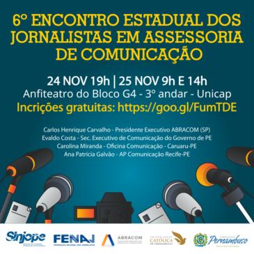 Sinjope e Fenaj realizam no Recife encontro estadual de jornalistas em assessoria de comunicação